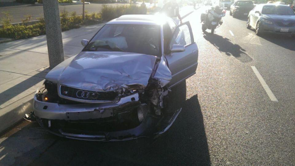 The damage on the car that hit me.